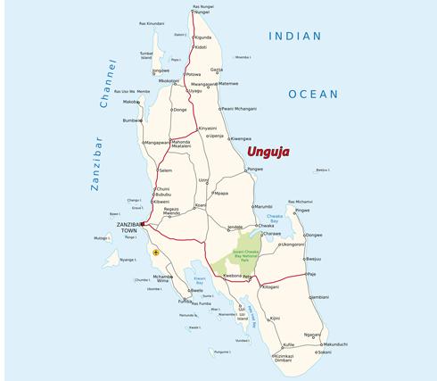 Sansibar Karte